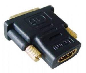 Kab. redukce HDMI-DVI F/M,zlacené kontakty, černá