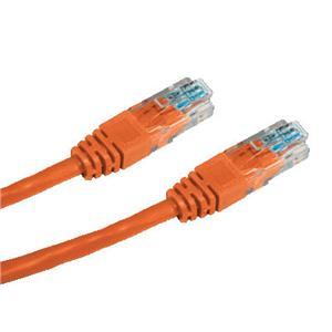 DATACOM patch cord UTP cat5e 0,5M oranžový