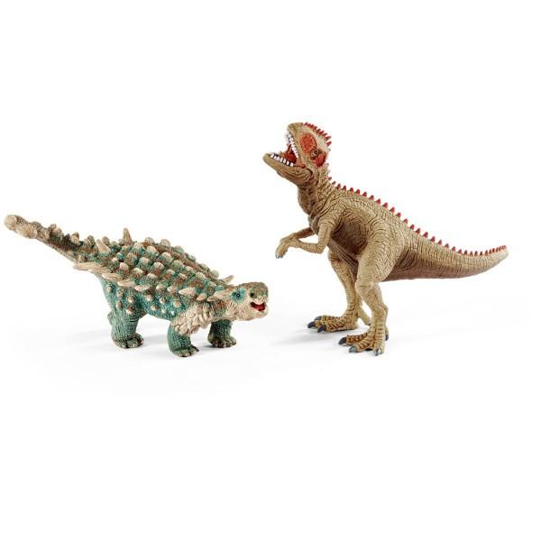 Schleich 41426 Prehistorická sada Saichania a Giganotosaurus