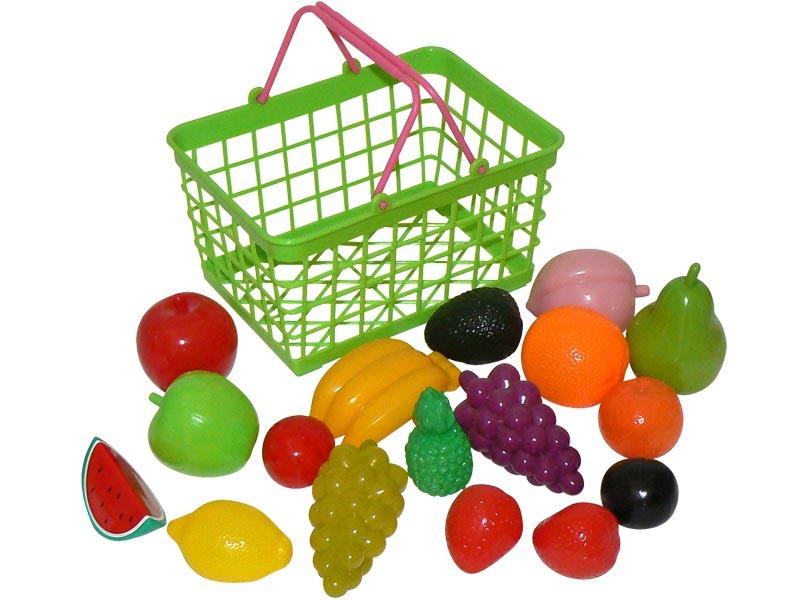 HM Studio Plastový košík - ovoce