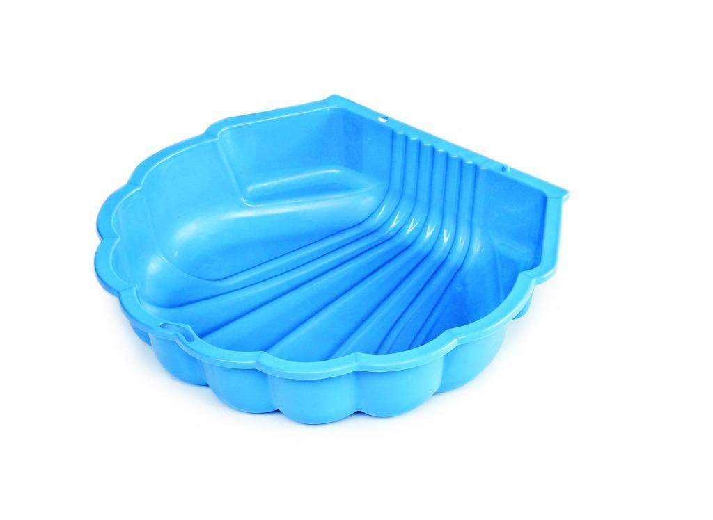 Pískoviště mušle modré s plachtou