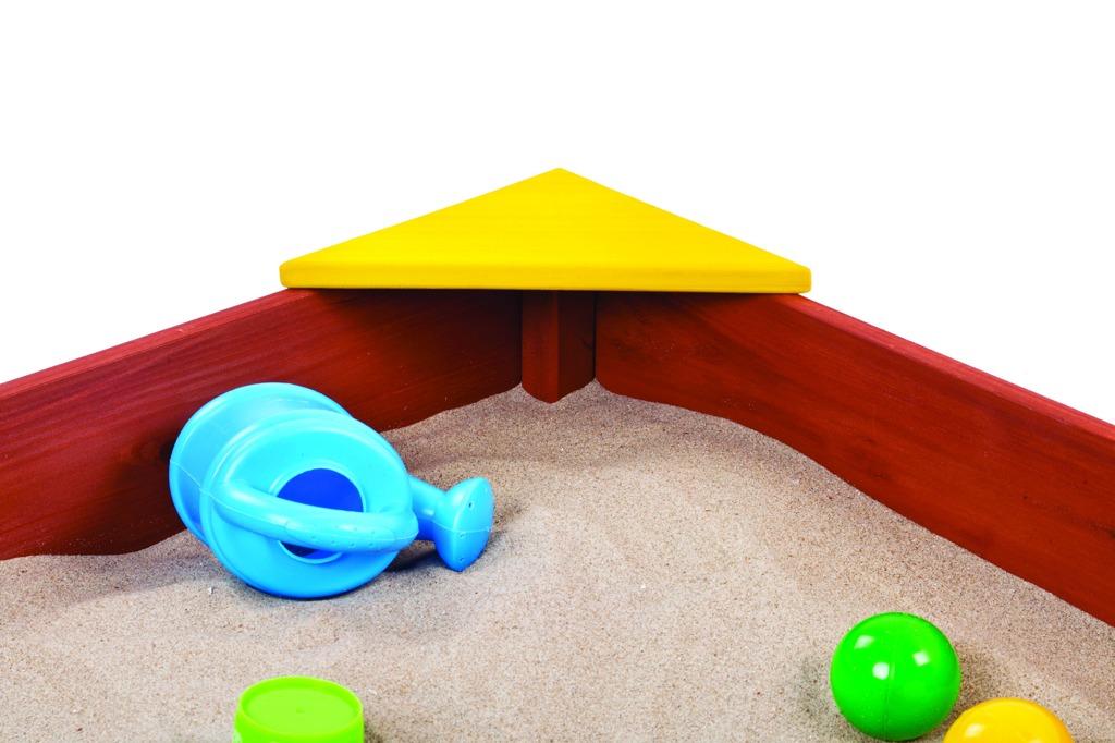 Pískoviště dřevěné s plastovými rohy