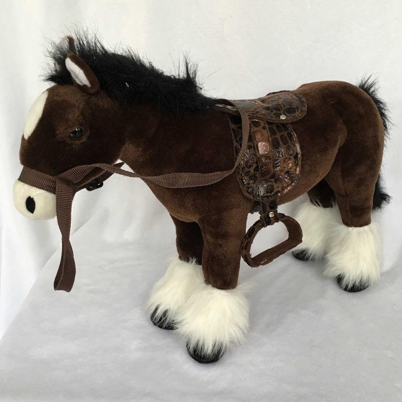 Plyšový Kůň černý 48 cm