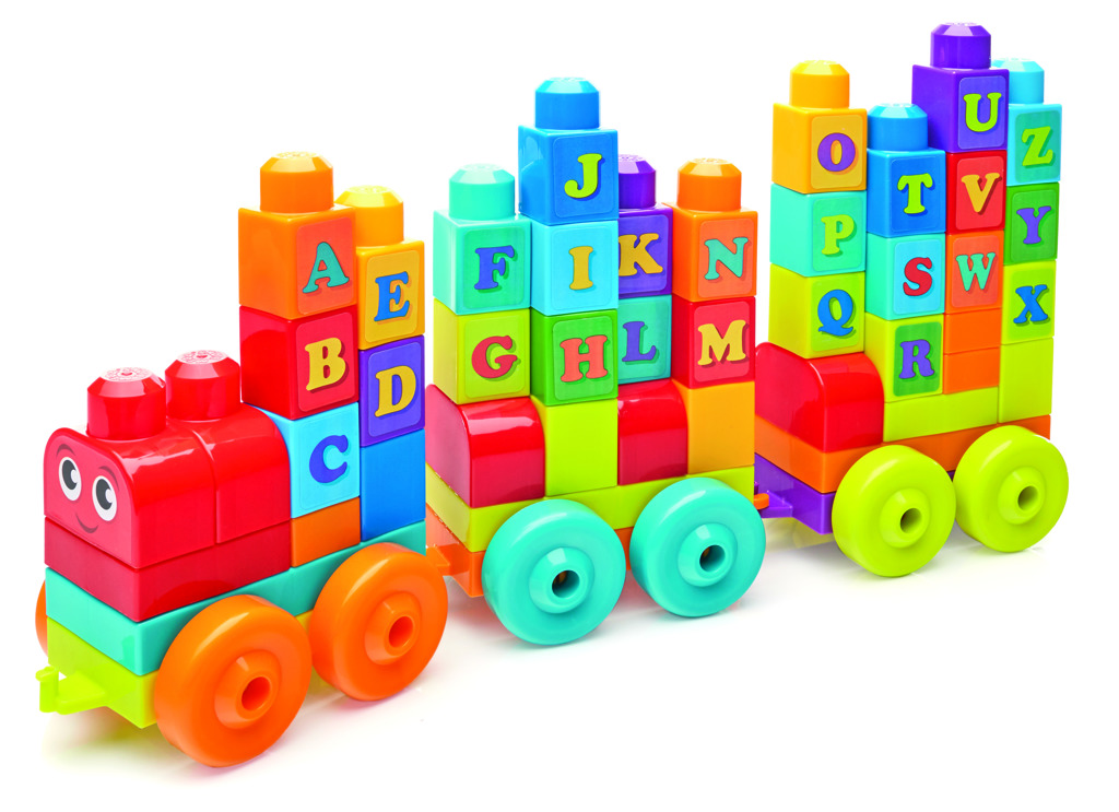 Mega Bloks vláček s písmenky