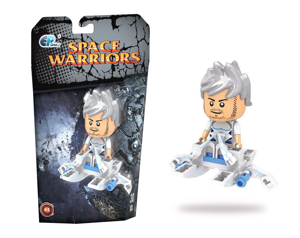 Stavebnice s vesmírným hrdinou 3 30 dílků