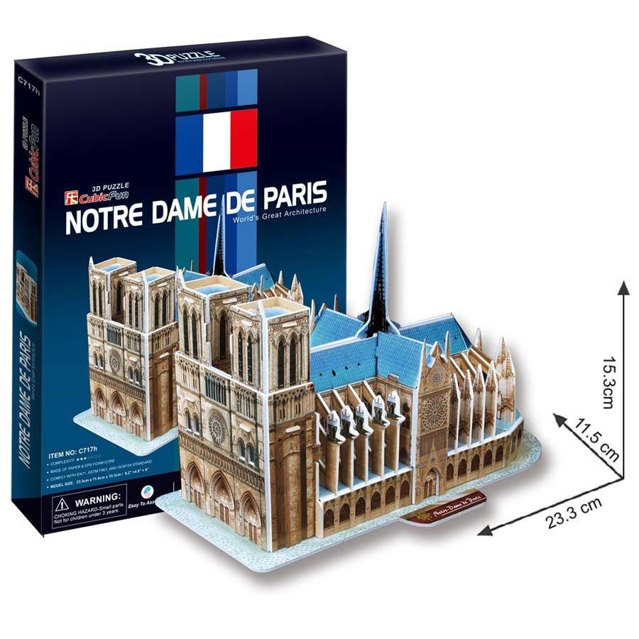 Puzzle 3D Notre Dame - 40 dílků