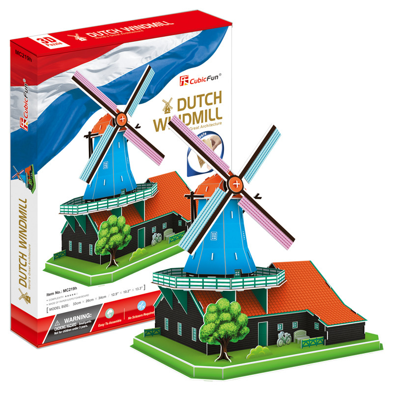Puzzle 3D Větrný mlýn