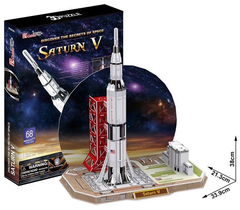 Puzzle 3D Raketa Saturn V – 68 dílků