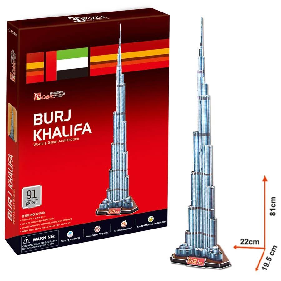 Puzzle 3D Burj Khalifa - 91 dílků