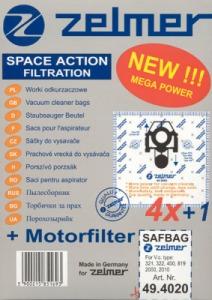 Filtr Zelmer 49.4000 (4) SAF-BAG - 2000, 2010 do vysav.