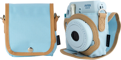 Fujifilm Instax Mini 8 Case blue + Strap