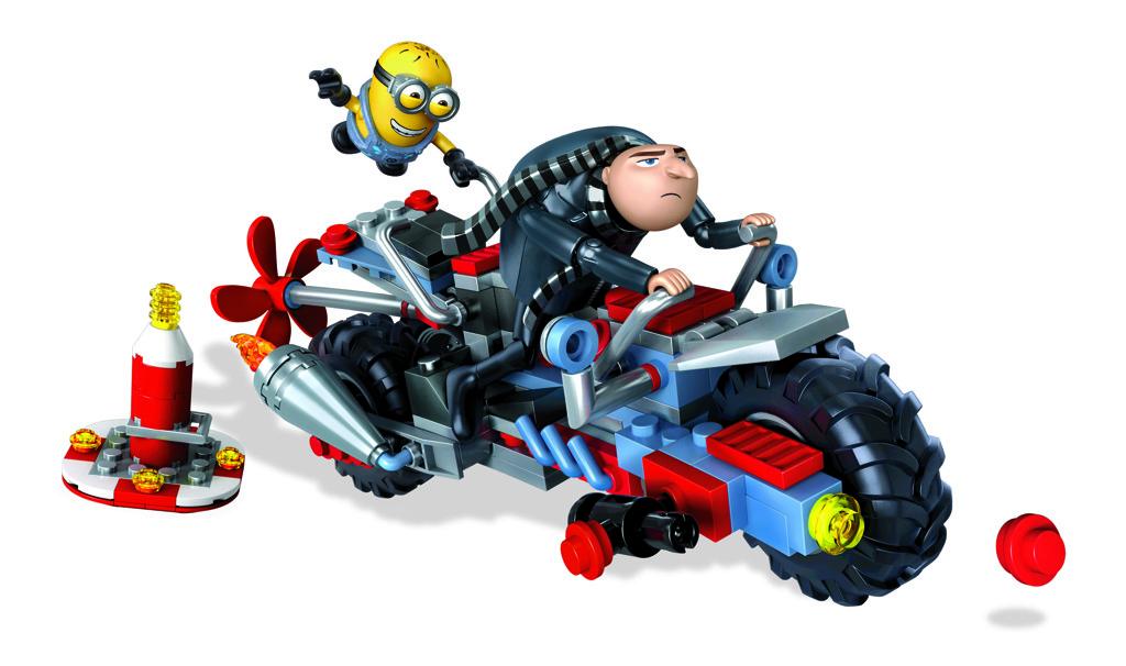 Mega Bloks Mimoňové motorka