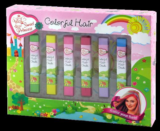 Křídy barevné duhové na vlasy