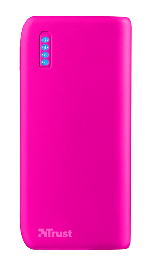 Trust Primo PowerBank 4400 Portable Charger - neon pink