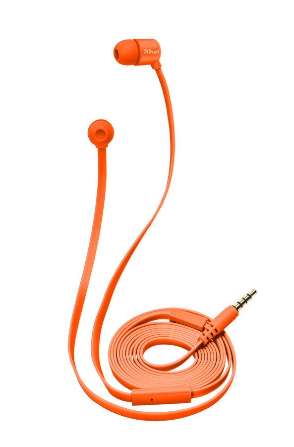 sluchátka do uší TRUST Duga In-Ear- neon orange