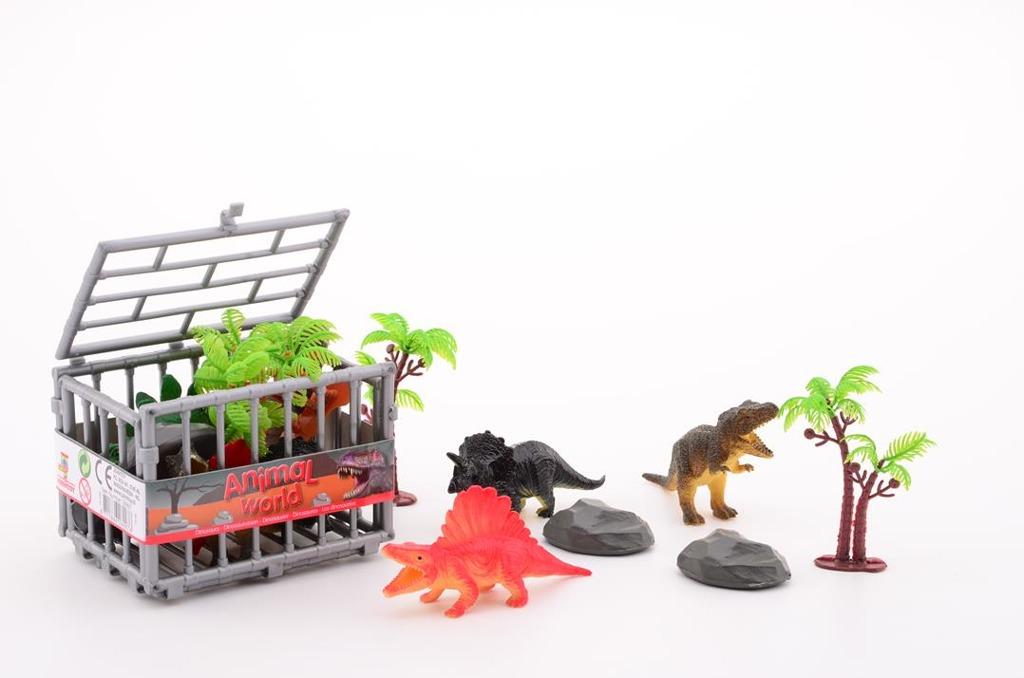 Dinosauři v kleci hrací sada