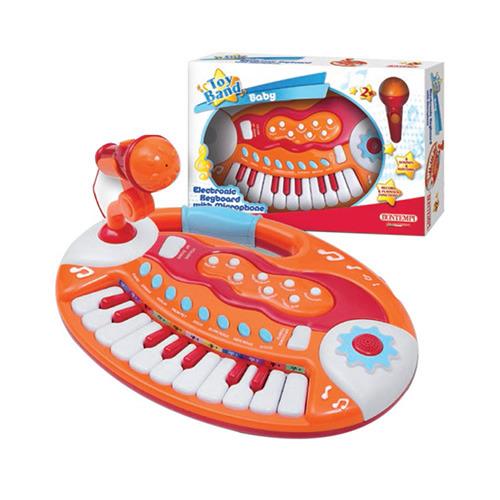 Klávesy dětské - 18 kláves + mikrofon