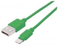 MANHATTAN iLynk Lightning Cable 1m pro iPad/iPhone/iPod zelený