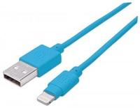 MANHATTAN iLynk Lightning Cable 1m pro iPad/iPhone/iPod modrý