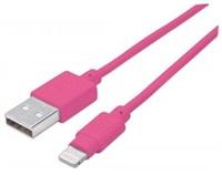 MANHATTAN iLynk Lightning Cable 1m pro iPad/iPhone/iPod ružový