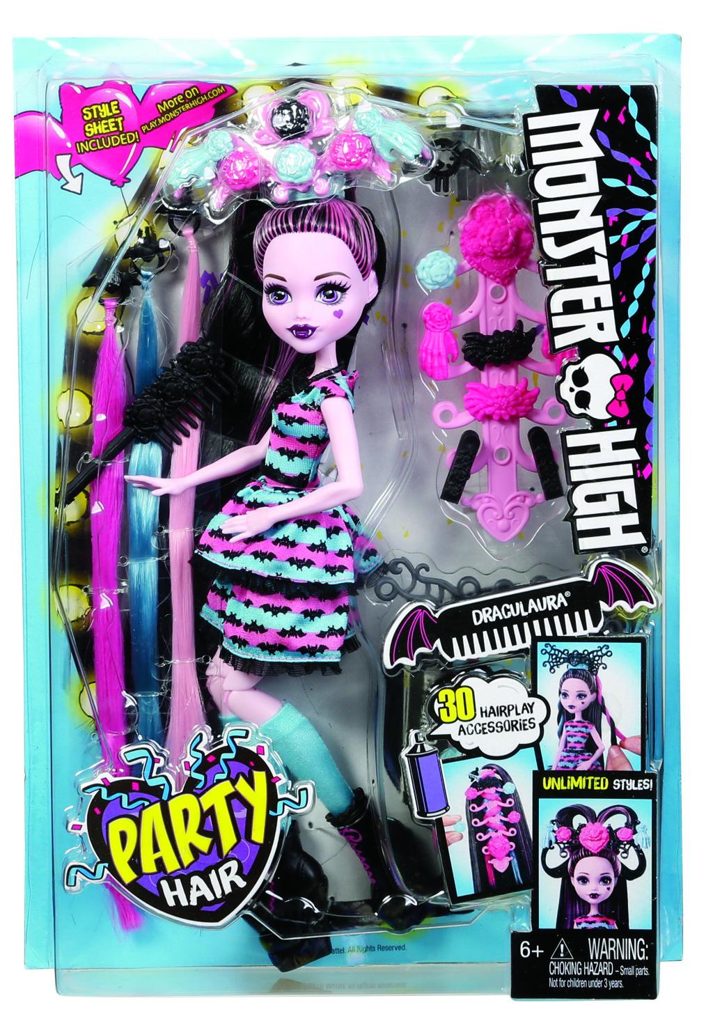 Monster High párty účes