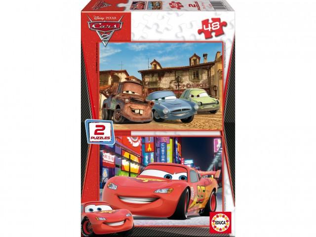 Puzzle Cars 2 2x48 dílků