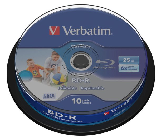 Verbatim Blu-ray BD-R DataLife [ Spindle 10 | 25GB | 6x | Wide PRINTABLE NO ID ]