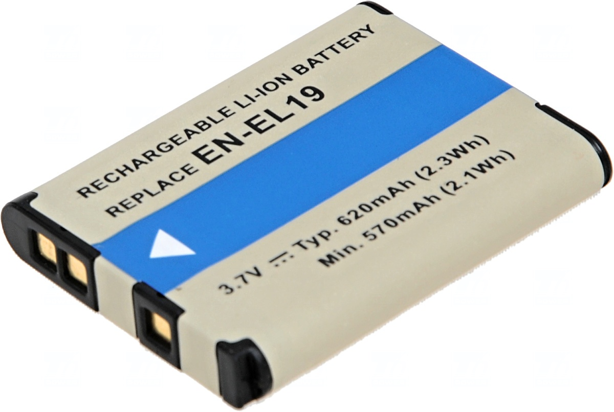 Baterie T6 power Nikon EN-EL19, 620mAh, černá