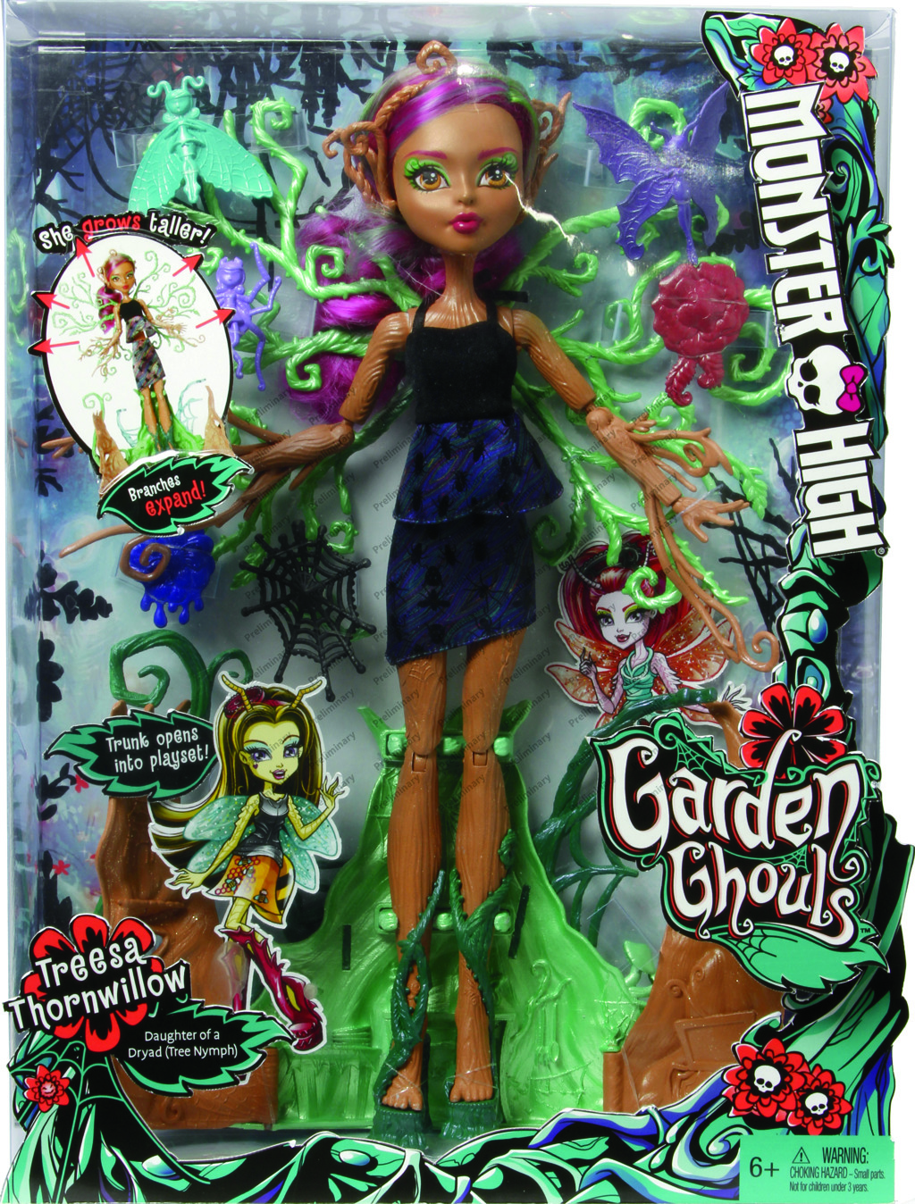 Monster High straškouzelná Treesa