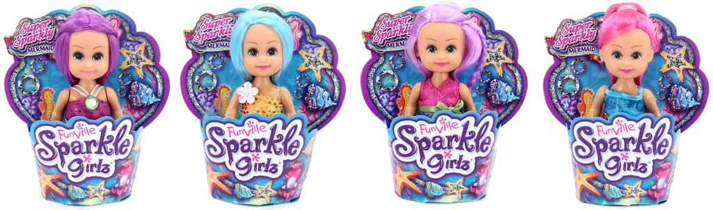 Mini mořská víla v kornoutku Sparkle Girlz