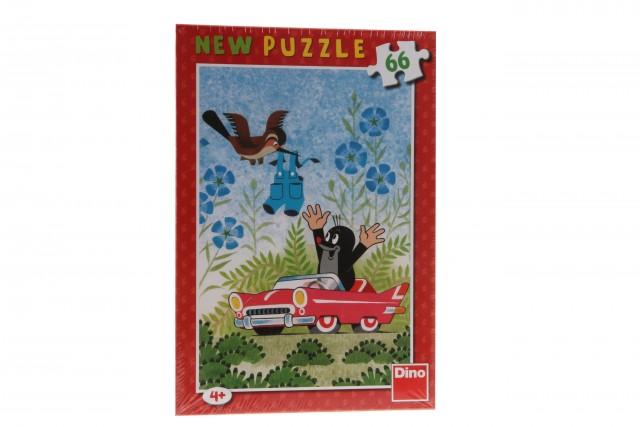 Puzzle 66 dílků Krtek a autíčko