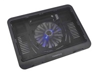 """OMEGA chladič pod notebook WIND, pro notebooky 10 - 15,6"""", 14cm ventilátor, černý"""