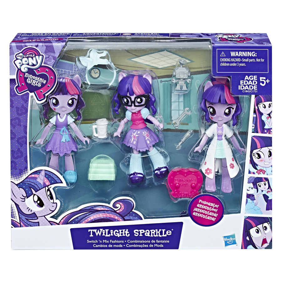 My Little Pony Equestria girls Mini panenky s módními doplňk