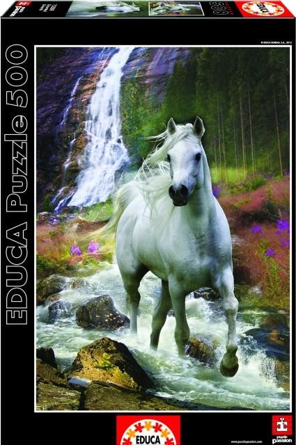 Puzzle Bílý kůň 500 dílků
