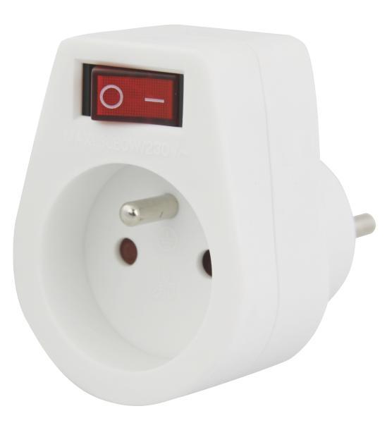 Emos zásuvka s vypínačem