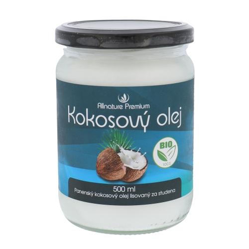 Přípravek na snížení cholesterolu Allnature Premium Bio Coconut Oil 500ml