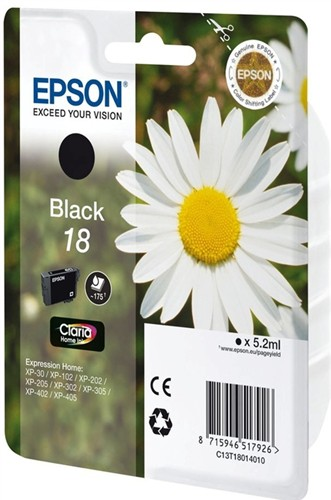 Epson ink cartridge black Claria Home T 180 T 1801