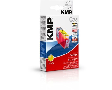 KMP C76 ink cartridge yellow compatible with Canon CLI-521 Y
