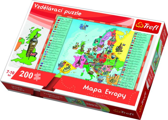 Puzzle Mapa Evropy