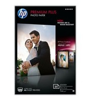 HP Premium Plus Glossy Photo Paper-25 sht/10 x 15 cm, 300 g/m2, CR677A