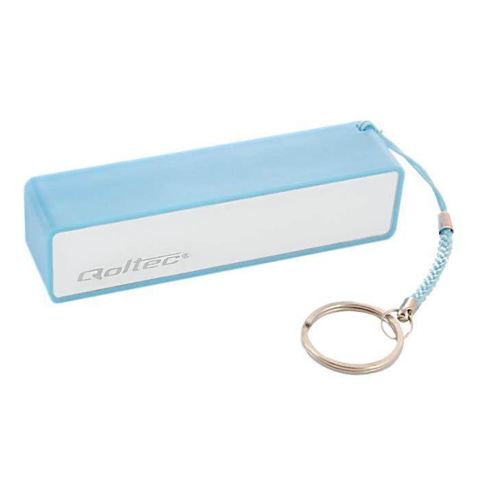 Qoltec Power Bank externí baterie pro smartphone 2600mAh, 5V/1A, modrá