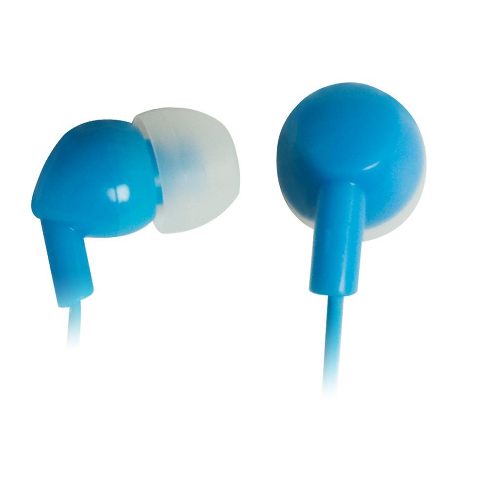 VAKOSS Stereofonní sluchátka do uší, silikonová, modrá