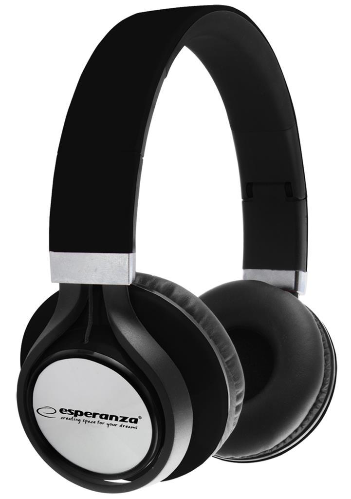 Esperanza EH159K FREESTYLE Stereo sluchátka, skládací, ovl. hlasitosti, 2m, čern