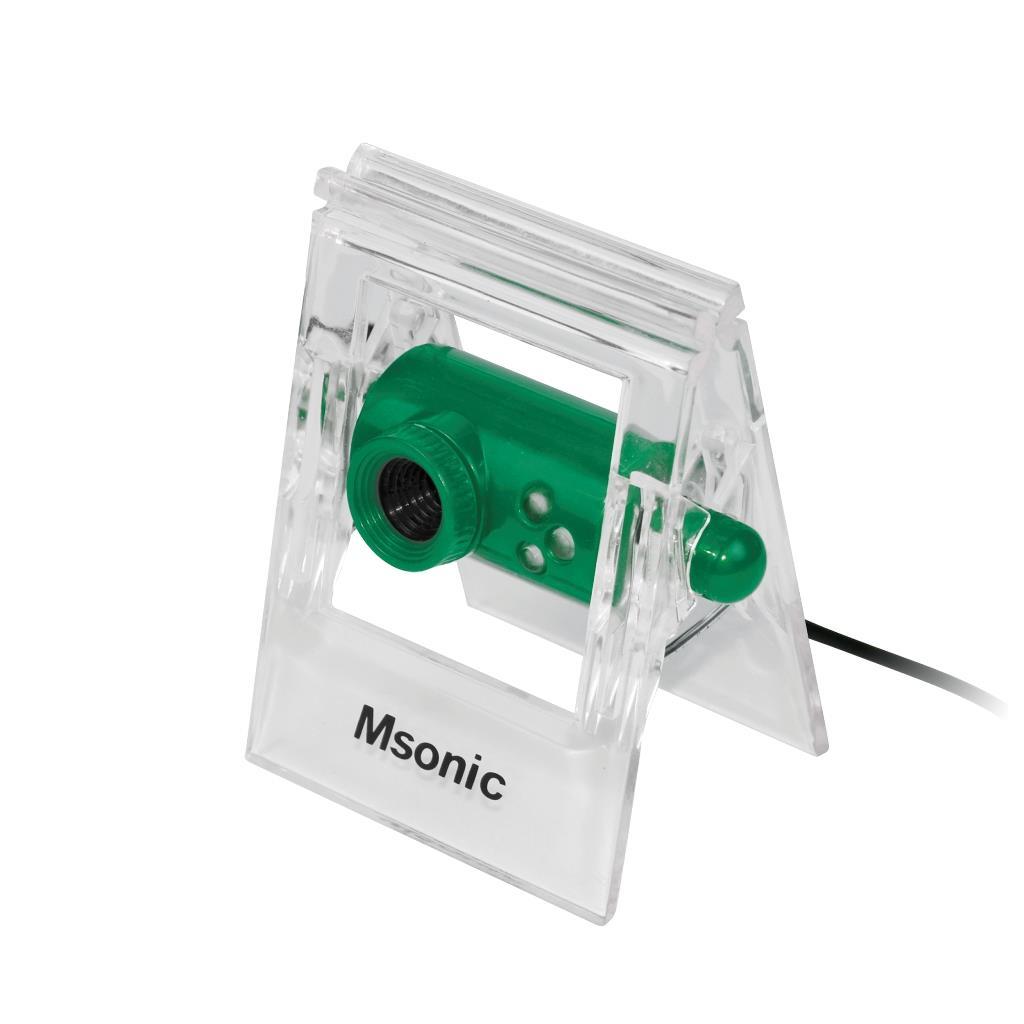 MSONIC webová kamera s mikrofonem USB 2.0, 3 led, MR1803E zelená