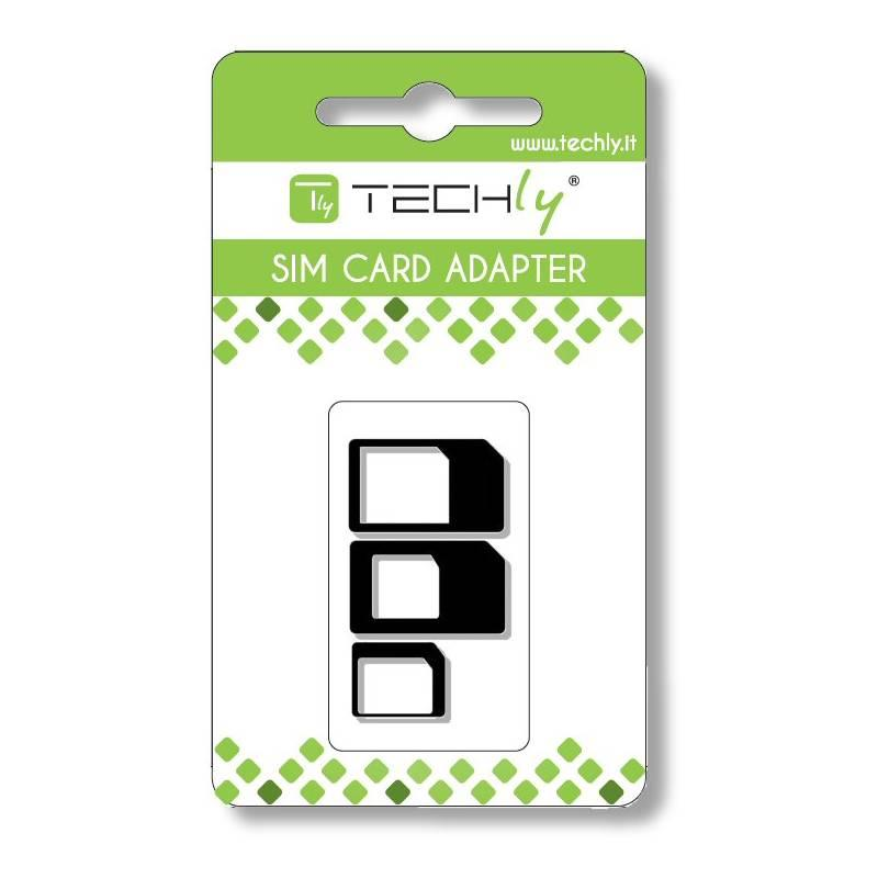 Techly adaptér pro kartu SIM, nano-SIM, Micro-SIM