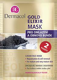 Omlazující maska Dermacol Gold Elixir Mask 16ml