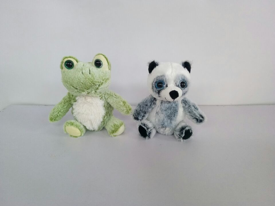 Zvířata plyšová (panda, žába) 20 cm