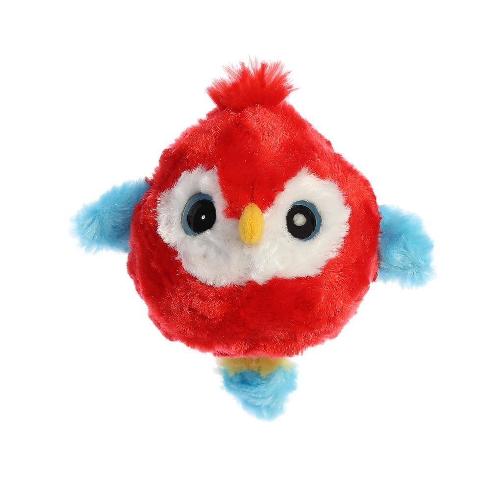 Yoo Hoo papoušek Ara zakulacený 9 cm
