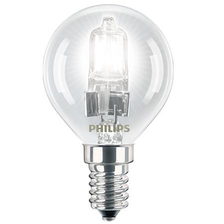 Žárovka Philips Halogen EcoClassic E14 18W, čirá, teple bílá