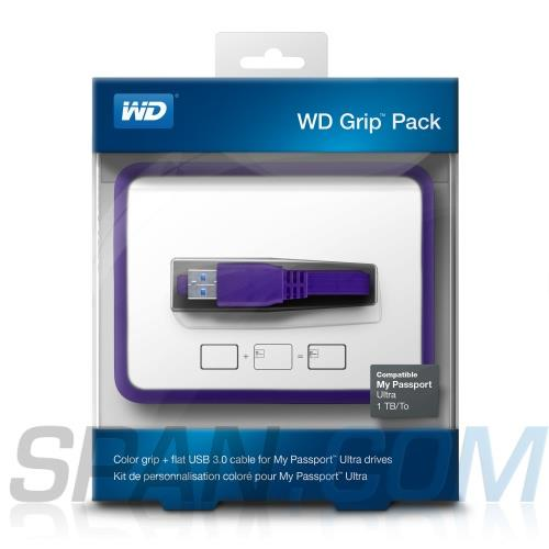 WD My Passport 2TB Grip Picasso Grape